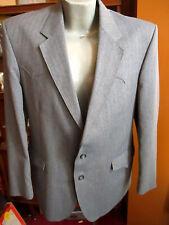 sz 44 True Vtg 70s Mens H Bar C Herringbone Gray Polyester Western Suit 39x29