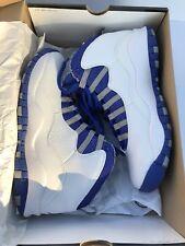 Men's Nike Air Jordan X 10  SZ 8.5 White Royal blue 100% Authentic XI III 11 3 1
