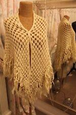 Cream hand crochet shawl wrap - Ditsy Vintage Victoriana