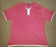 George V Neck Classic Fit Singlepack Tops & Shirts for Women