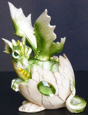 PERIDOT    Birthstone Dragon in Egg Shell     AUGUST  Figure Statue H5.5""
