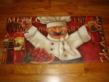 Anti Fatigue Pvc Foam Kitchen Floor Mat Rug 20x39 Chef Wine Grapes Merlot!