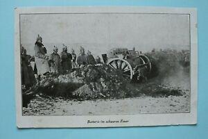 AK Batterie i schweren Feuer 1916 Artillerie Offiziere Soldaten Geschütze 1.WK
