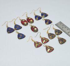 WHOLESALE 5 SET 925 TIBETAN BRASS RED CORAL MIX STONE EARRING PENDANT SET LOT R6