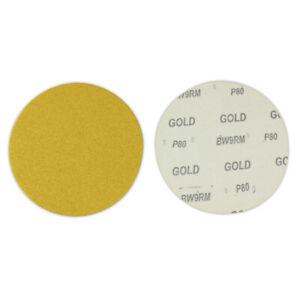 "50 Pack - 5"" Inch 40 Grit No Hole Hook & Loop Sanding Discs Orbital DA Sandpaper"