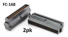 2-Pack SCSI-3 IDC Type Male 68-Pin Crimp Connector for Ribbon Cable, FC-168