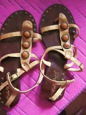 CARLO ROSSI GOLD SANDALS WITH STONE DETAIL SIZE 36