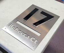 Letter Box Laser Cut Stainless Steel and 3D Perspex House Sign Custom Made