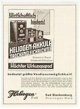 BAD BLANKENBURG, Werbung / Anzeige 1939, Heliogen-Werk Trockengleichrichter