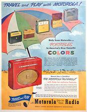 VINTAGE ORIGINAL 1954 MOTOROLA PORTABLE RADIOS ~ FULL PAGE COLOR PRINT AD