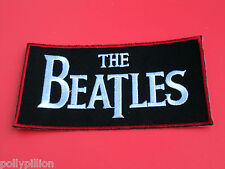 THE BAETLES BLACK RED & WHITE BLOCK SEW/IRON ON PATCH