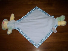 My Banky Baby Blue Security Blanket Teddy Bear JACK Blankie Green Yellow