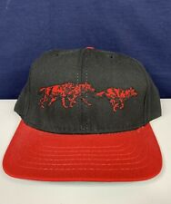 Vintage RED WOLF,  Snapback Trucker Baseball Hat Cap  Anheuser-Busch
