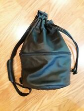 Vintage Ameribag drawstring black leather backpack Kingston NY