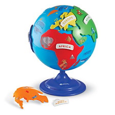 Learning Resources Puzzle Globe, 3-D Geography Puzzle, Fine Motor, 14 Pieces, 3+