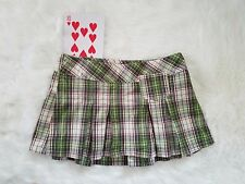 Abercrombie Fitch Women's Schoolgirl Pleated Micro Mini Skirt Green Plaid 2
