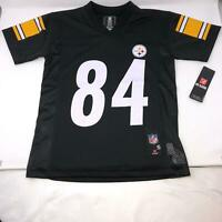 NWT Pittsburgh Steelers Antonio Brown #84 Black NFL Jersey Youth Small