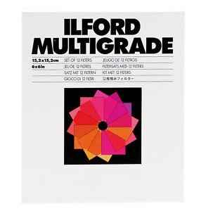 Set 12 Filtri Ilford Multigrade per bianco e nero 15x15 - Filter black and white