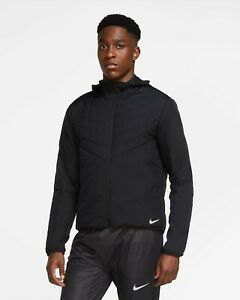 Nike AeroLayer Thermore Hooded Men's Running Jacket CU5388 010