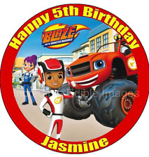 Blaze and the Monster Machines Personalised ICING Cake Topper Party Decoration