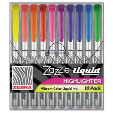 Zebra Zazzle Liquid Ink Highlighter Chisel Tip Asst Colors 10/Set 71111