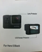 Protective Film For GoPro Hero 5 Camera Screen and Lens + Cloth