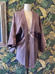 Vintage Handmade Kimono Jacket Top For Repair