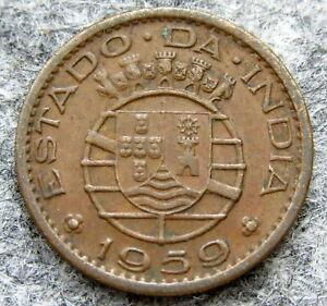 INDIA PORTUGUESE COLONIAL GOA 1959 10 CENTAVOS