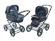 Roan Rocco Pram Stroller 2-in-1 with Bassinet and Seat - Graphite   Brand-New