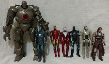 Marvel Universe Iron Man Lot 3.75, Constrictor, Iron Monger, Stark, Blue, silver