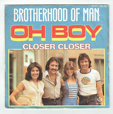 "BROTHERHOOD OF MAN Vinyl 45T 7"" OH BOY - CLOSER CLOSER -PYE 140185 F Rèduit RARE"