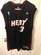 Authentic Adidas Miami Heat Dwyane Wade Jersey Mens Size XL - Heat Press Jersey