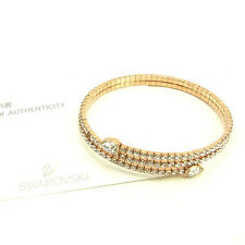 SWAROVSKI Bangle Bracelet clear Pink Woman Authentic Used Y6907