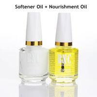 2Pcs 15ml Nail Art Cuticle Softener Remover + Nourishment Oil  Tools