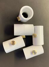 20 Pack (100 Total) Orbit 1/2 Inch PVC Coupling. Brass & Stainless Mist Nozzles