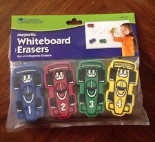Learning Resources Magnetic Whiteboard Eraser Set of 4/ 1pkg