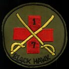 Original US Army 7th Squadron 1st Air Cavalry Black Hawk Vietnam Patch N-29