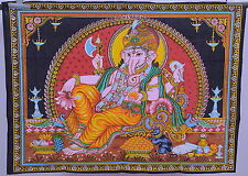 ganesha wall hanging hindu elephant god painted ganesh sequin tapestry decor art