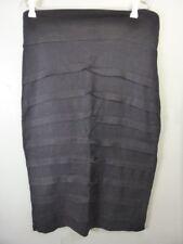 FLOWER pleated layered 100% LINEN dress casual Skirt sz 10