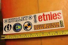 Etnies Hurley New Deal Ninja Skateboards Vintage Skateboard Sticker Sheet