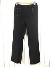 Huntington Vintage Navy Sailor Uniform Pants Wool Lace Back Button Front 37S