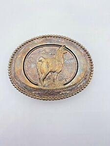 Vintage Llama Award Design Buckles Silversmith Collection Hand Made & Engraved