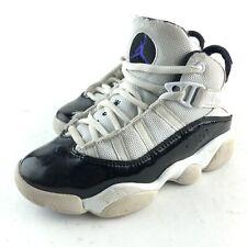 Nike Air Jordan 6 Rings Concord XI 11 White Black PS Pre School Sz 11 323432-104