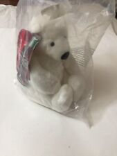 """Coca Cola 1993 White Plush Polar Bear Sitting Stuffed Toy Animal 7"""""""
