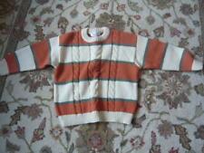 Orange grey white long sleeve wooly warm jumper 4/5yo by Vestil Baby excon