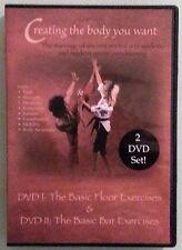 CREATING THE BODY YOU WANT basic floor / basic bar exercises   DVD 2 disc set