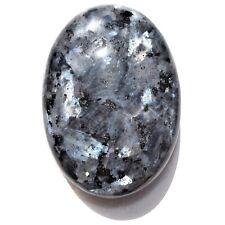 "Flashy Charged 2.5"" Larvikite Crystal Palm / Worry Stone Healing Energy ~100g"