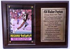 Chicago Bears Walter Payton Football Card Plaque