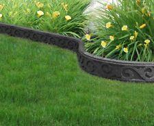 Flexi Curve 4 ft. Grey Scroll Rubber Garden Edging Border Gardening Feature