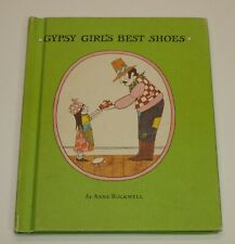 Vintage GYPSY GIRL'S BEST SHOES Anne Rockwell Hardcover Children's Book